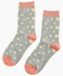 Ladies Stars Star Socks Novelty Bamboo Cotton Blend 4 7 Superb Quality GBP 6.49