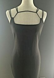 GUESS Low Back Strappy Black Classy Cocktail Dress Size L EUC $45.00