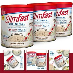 Slimfast Original French Vanilla Meal Replacement Weight Loss Powder Pack Of 3 $33.99