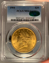1904 $20 PCGS MS 64 CAC Liberty Gold Double Eagle $3399.00