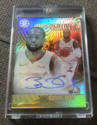 Dwyane Wade 2019 20 Panini Illusions GOLD 10 Superlatives Auto Heat CASE HIT SP $99.00