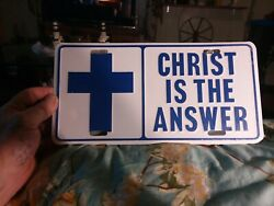 Vintage Booster License Plate collectable GOD Jesus novelty religious $10.00