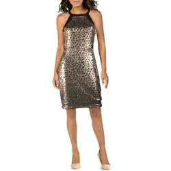 Guess Womens Metallic Halter Party Cocktail Dress BHFO 7419 $12.99