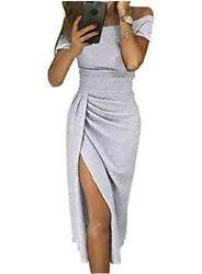 HUUSA Sexy Prom Cocktail Sequin Dresses Party for Womens S grey Size 16.0 Zfta $9.99