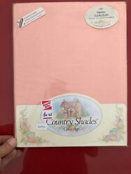 BRAND NEW amp; UNOPENED quot;COUNTRY SHADESquot; PINK SQUARE 52quot; x 52quot; TABLECLOTH $3.89