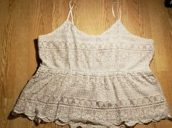 Maurices Women#x27;s Tank Top Crochet Plus Size 4 Cute Sleeveless Brand NEW Lace $22.99