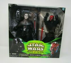 Darth Vader Maul Sith Lords 12quot; STAR WARS 1 6 Scale Power of the Jedi MIB $49.49