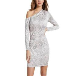 Guess Womens Marian Snake Print Off The Shoulder Cocktail Party Dress BHFO 0309 $12.99