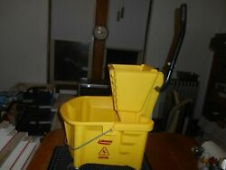 New 6 Gallon Commercial Mini Mop Bucket With Wringer Combo Rolling Cleaning Cart