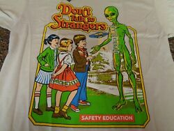 Don#x27;t Talk to Strangers Steven Rhodes Adult Large White SS T shirt NWT New $23.75