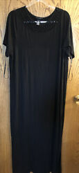 Catherines Black Maxi Dress Size 1X 18 20 Never Worn $30.00