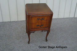 60897 Antique Nightstand End Table Stand $265.00