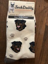Rottweiler Dog Socks Fun Novelty Dress Casual Unisex SOX Daddy $11.99