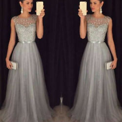 Womens Prom Gown Maxi Dress Wedding Bridesmaid Evening Party Lace Long Dresses $13.10