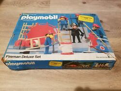 **Vintage in the Box** Playmobil Fireman Deluxe Set #1402 $25.00