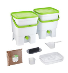 Bokashi Organko Kitchen Composter Bio Waste Fermenting Bucket by Skaza white $85.00