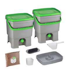 Bokashi Organko Kitchen Composter Bio Waste Fermenting Bucket by Skaza gray $85.00