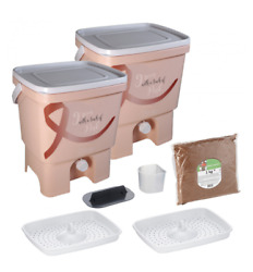 Bokashi Organko Kitchen Composter Bio Waste Fermenting Bucket by Skaza pink $85.00
