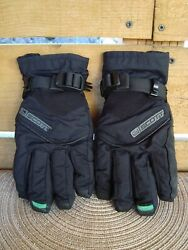Scott Black Nylon Waterproof Breathable Ski Snow Winter Gloves Kids Size M $12.00