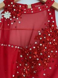 NWOT Custom Jazz Musical Theater Red Feather Dance Competition Costume $299.00