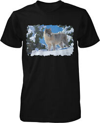 Snow Wolf Wolf in the Snow Men#x27;s T shirt $13.95