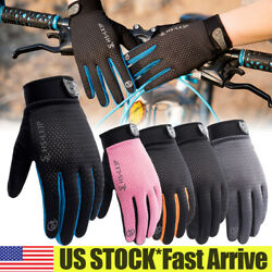Bike Riding Full Finger Glove Racing Motorcycle Gloves Cycling Bicycle BMX MTB $8.26