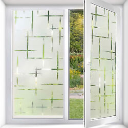 Stained Glass Window Film Static Cling Privacy 3D Rainbow Decorative for Office $12.95