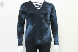 NEW Plus Size Black Knot Top Boho Blouse V Neck Knit tie dye Shirt $9.99