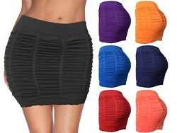 Womens Booty Enhancing Mini Stretch Bodycon Club Skirt $10.95