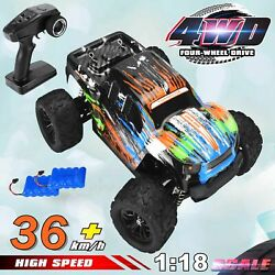 RC Cars 1:16 Scale High Speed Remote Control Car 2.4G Off Road Monster Truck $35.99
