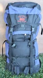 REI TRAVERSE NEW STAR LARGE HIKING CAMPING PACK SOLID FRAME BLUE TS9 $50.00