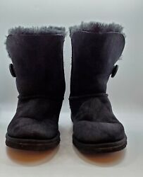 UGG Australia Classic Bailey Button Womens Boots Size 6 Black Style 5803 $55.00
