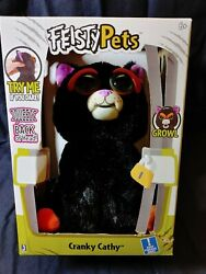 Brand New Feisty Pets Black Cat Cranky Cathy 10quot; Plush Growl Free Shipping; New $15.10