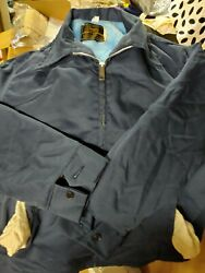 Vintage Sears Work Leisure Jacket Navy Fur Lined Size X Large never worn $55.00