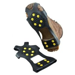 Non slip Snow Cleats Shoes Boots Cover Step Ice Spikes Grips Crampon 10Studs US $9.41