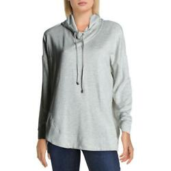 Cable amp; Gauge Womens Gray Knit Pullover Casual Hoodie Top L BHFO 7776 $20.30