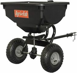 85 Lb Behind Broadcast Spreader Tow Hopper Fertilizer Seed Atv Lawn Tractor Pull $215.12
