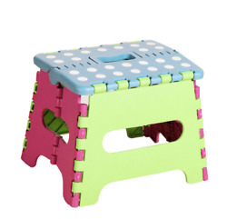 Stool household folding plastic low stool skid proof outdoor small bench chair $10.66
