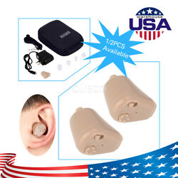 Rechargeable Digital Hearing Aid Wireless Mini In Ear Hearing Amplifier Deaf US $17.09