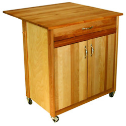 Natural Kitchen Cart With Butcher Block Top $393.99