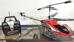 HUGE Metal Remote Control RC 1201 Volitation Alloy 3ch GYRO R C Helicopter Drone $42.00