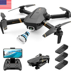 Dual Camera Foldable Mini Drone Fixed Hight HD Flying Quadcopter Drone with LED $62.12