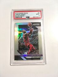 2018 19 Panini Prizm LeBron James #6 Silver Prizm PSA 9 Mint Lakers $70.00