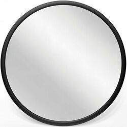 Infinity Instruments Nera 22quot; Hanging Wall Mirror Black Matte Frame Open Box $26.99