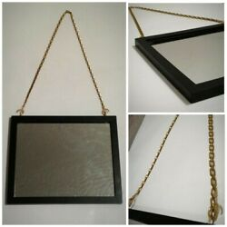 Hanging Wood Framed Mirror With Chain 8x10 in. $32.99