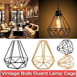 Industrial Vintage Lamp Shade Hanging Pendant Lights Retro Cage Bulb Guard Wire $4.54