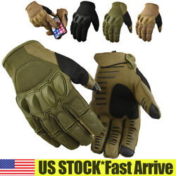 Tactical Gloves Hard Knuckle Full Finger Military Army Combat Hunting Shooting $10.99