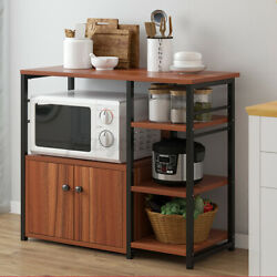 Kitchen Microwave Oven Stand Rack Baker Shelf Storage Cart Cabinet Workstation $24.50
