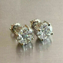 2.00 Ct Round Cut VVS1 Diamond Antique Vintage Stud Earrings 14K White Gold Gift $158.00