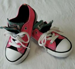 Converse All Star Toddler Girl#x27;s Size 9 Low Double Tongue Shoes $14.95